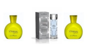 Kit Perfume Extreme Marine 100ml  com caixa + 2 pç Eternal  100ml sem caixa