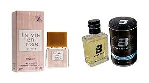 PERFUME BOXTER BLACK 100ML + LA VIE EM ROSE ENTITY 25ML- 1 PÇ CADA