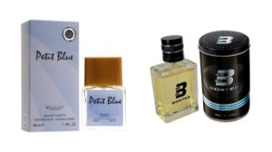 PERFUME BOXTER BLACK  100ML + PETIT BLUE ENTITY 25ML- 1 PÇ CADA