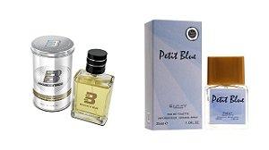 PERFUME BOXTER WHITE 100ML + PETIT BLUE ENTITY 25ML- 1 PÇ CADA