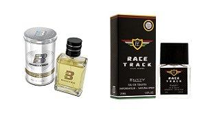 PERFUME BOXTER WHITE 100ML + RACE TRACK ENTITY 25ML- 1 PÇ CADA