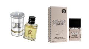 PERFUME BOXTER WHITE 100ML + VOYAGER ENTITY 25ML- 1 PÇ CADA