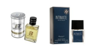 PERFUME BOXTER WHITE 100ML + INTIMATE ENTITY 25ML- 1 PÇ CADA