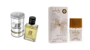 PERFUME BOXTER WHITE 100ML + JADEITE ENTITY 25ML- 1 PÇ CADA