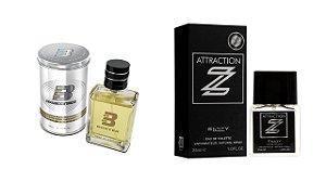 PERFUME BOXTER WHITE 100ML + ATTRACTION Z ENTITY 25ML- 1 PÇ CADA