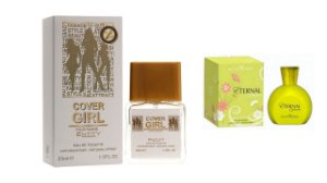 PERFUME COVER GIRL 25 ML + PERFUME ETERNAL 100ML - OFERTA ESPECIAL