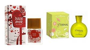 PERFUME DULCE AMOR 25 ML + PERFUME ETERNAL 100ML - OFERTA ESPECIAL