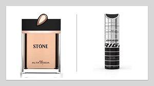 Perfume Stone Dourado A.Moda S/ Caixa100ml + Gratis Desodorante Origin 200ml