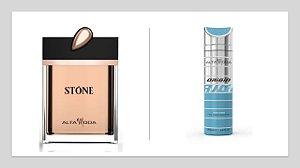 Perfume Stone Dourado A. Moda S/Caixa 100ml + Gratis Desodorante Origin 200ml