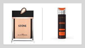 Perfume Stone Dourado A. Moda S/Caixa 100ml + Gratis Desodorante Sauvage 200ml