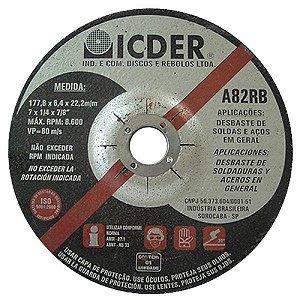 DISCO DESBASTE 7X1/4X7/8 - ICDER