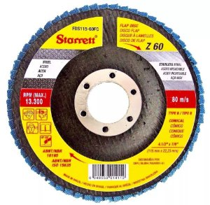 """DISCO FLAP 4.1/2"""" G 60 - STARRETT"""