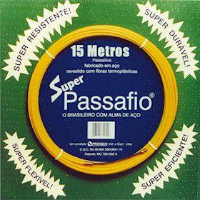 PASSA FIO DE AÇO REVESTIDO - 15mt