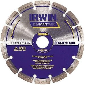 "DISCO DIAMANTADO 7"" SEGMENTADO 180X25,4MM - IRWIN"