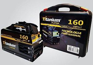 Máquina  Inversora de Solda  Mma160 Bivolt - Titanium