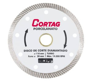 "Disco de Corte Diamantado Turbo 4.3/8"" - CORTAG"