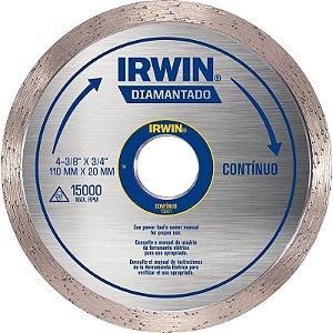 """DISCO DIAMANTADO  LISO CONTINUO 4.3/8"""" - IRWIN"""