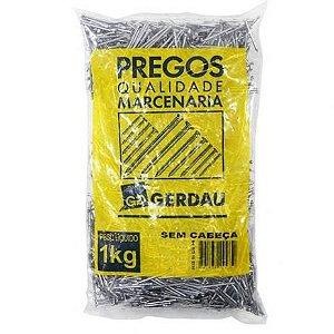PREGOS 8X8 S/ CABEÇA 1 KG - GERDAU