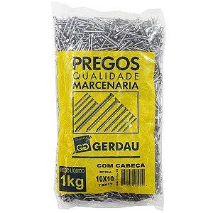 PREGOS 10x10 C/ CABEÇA 1 KG - GERDAU