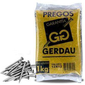 PREGOS 12X12 C/ CABEÇA 1 KG - GERDAU