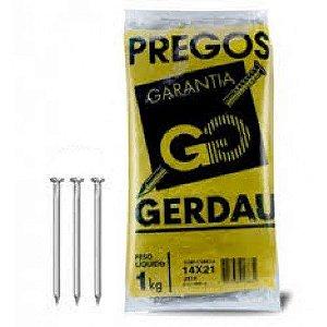 PREGOS 14x21 C/ CABEÇA 1 KG - GERDAU