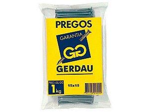 PREGOS 15x15 C/ CABEÇA 1 KG - GERDAU