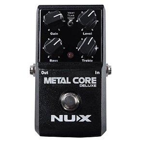 Pedal de efeito Nux distortion Metal Core Deluxe