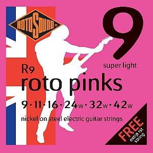 Encordoamento para guitarra Rotosound  Pink Nickel 0,09