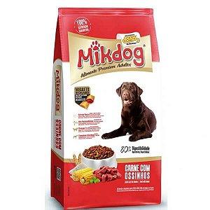 Ração Mikdog adulto Carne e Ossinho Premium