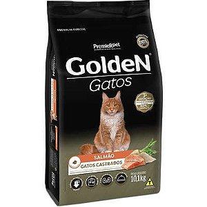 Ração Golden Gatos Adultos Castrados Salmão Premium especial