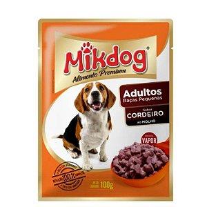 Ração Úmida Sache Mikdog Adultos Raças Pequenas Cordeiro 100g