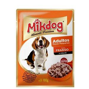 Ração Úmida Sache Mikdog Adultos Raças Pequenas Frango 100g