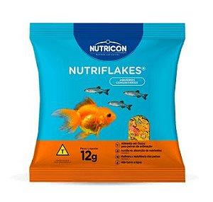 Ração para Peixe Ornamentais em Flocos Nutriflakes 12g