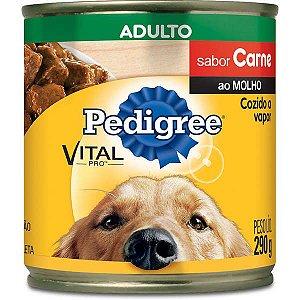 Lata Patê Pedigree Cães Adultos Carne 290g