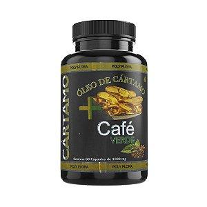 ÓLEO DE CÁRTAMO + CAFÉ VERDE - 60 cápsulas - 1000mg
