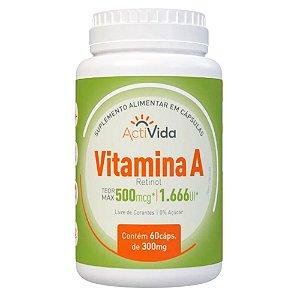 Vitamina A - Retinol - 60 cápsulas - 500mg.