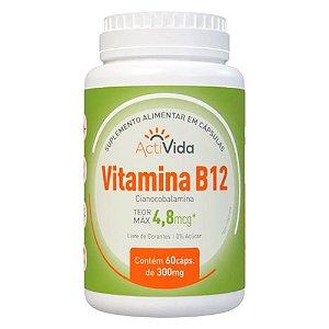 Vitamina B12 Cianocobalamina - 60 cápsulas - 300mg.