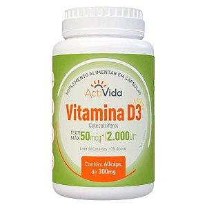 Vitamina D3 - Colecalciferol - 60 Caps