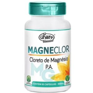 Magneclor Cloreto de Magnésio P.A. Unilife - 60 cápsulas