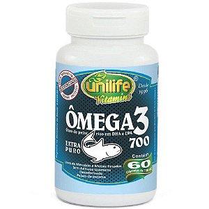 Ômega 3 Óleo de Peixe Unilife 120 cápsulas - 700mg.