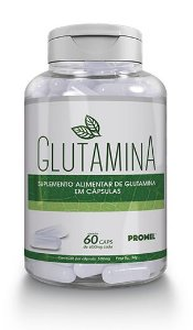 Glutamina – Frasco com 60 caps de 600mg