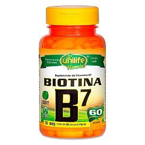 Vitamina B7 Biotina Unilife 60 Cápsulas