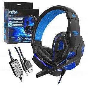 Headset com Fio Gamer Dex DF-81