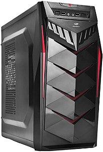 Computador, Gabinete C3 Tech MT-G70, Processador Intel I3 10100, Placa Mãe Asus H410, Placa de Vídeo DEX 750TI Memória DDR4 8GB, SSD 240GB, Fonte 500W