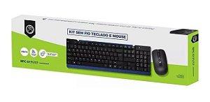 Teclado e Mouse sem fio Brazil Pc BPC-5271/71