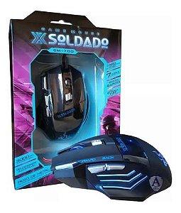 Mouse Com Fio Gamer Soldado GM-700