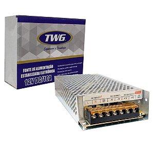Fonte Estabilizada Eletrônica TWG 12V 10A TW1210 FG