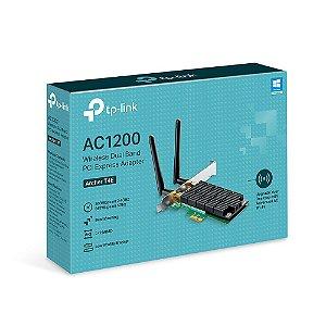 Placa de Rede TP Link AC1200 Dual Band PCI Express T4E