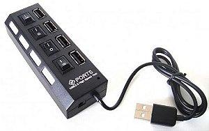 Hub USB knup 4 portas HB-T63 2.0