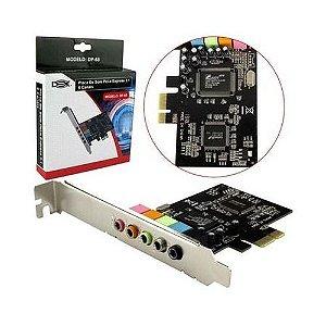 Placa de som Dex PCI-E 5.1 DP-65